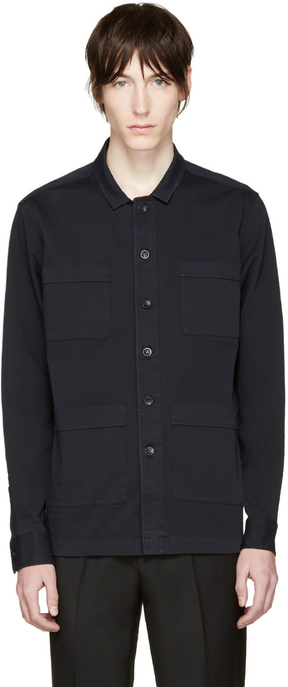 Tiger Of Sweden Navy Twill Jacket