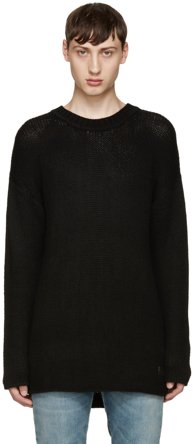 Tiger Of Sweden Black Wool Boxy Sweater