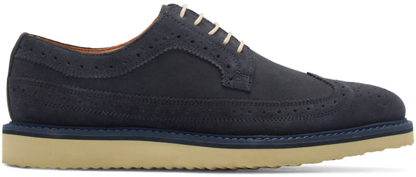 Tiger Of Sweden Navy Suede Charly Brogues