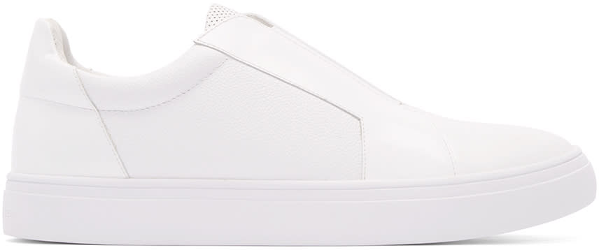 Tiger Of Sweden White Leather Slip-on Sneakers