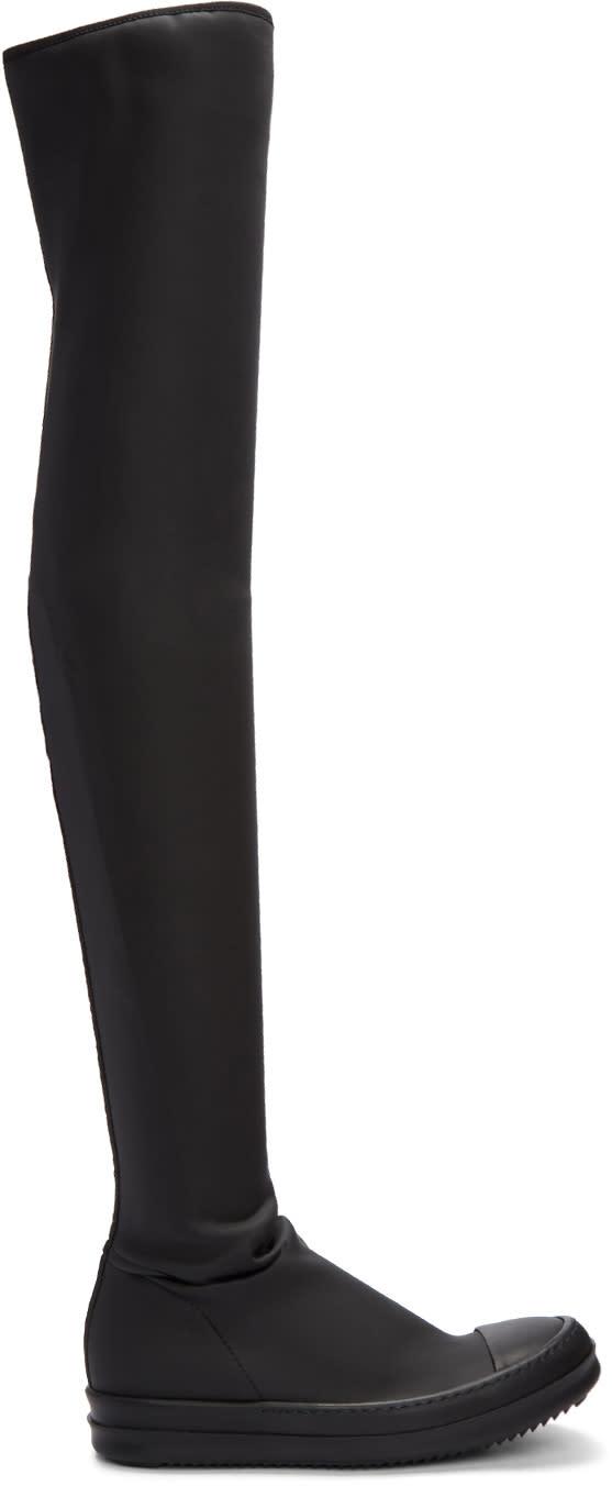 Rick Owens Drkshdw Black High Sock Boots