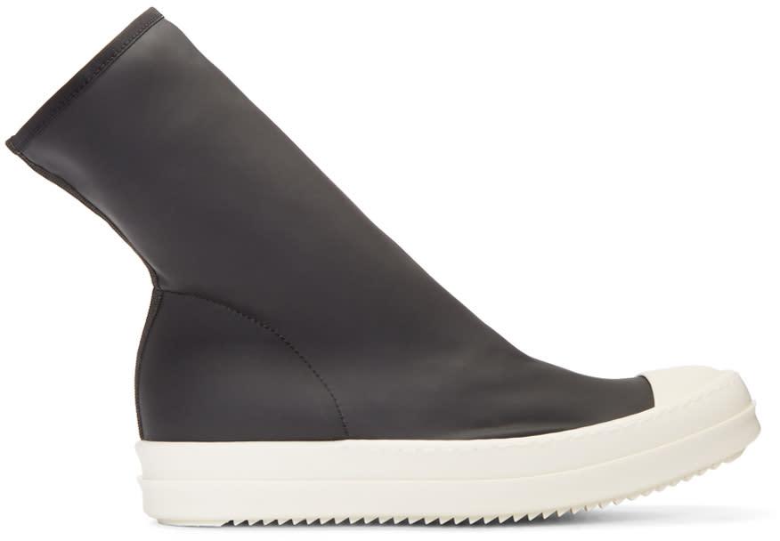 Rick Owens Drkshdw Black Mid Sock Sneakers