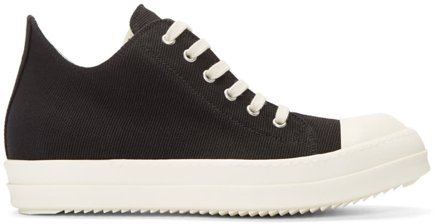 Rick Owens Drkshdw Black Canvas Sneakers