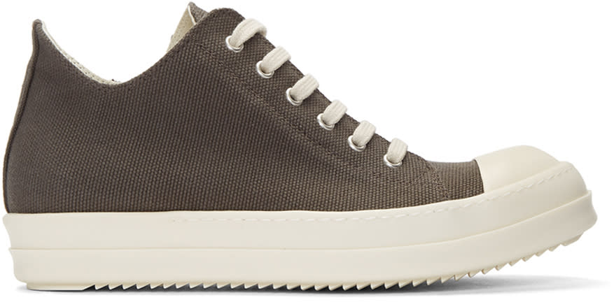 Rick Owens Drkshdw Grey Canvas Sneakers