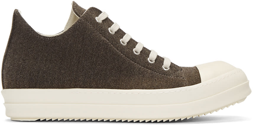 Rick Owens Drkshdw Brown Flannel Sneakers