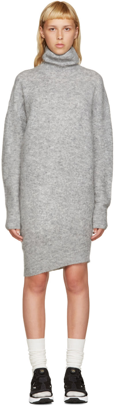 Acne Studios Grey Daija Mohair Dress