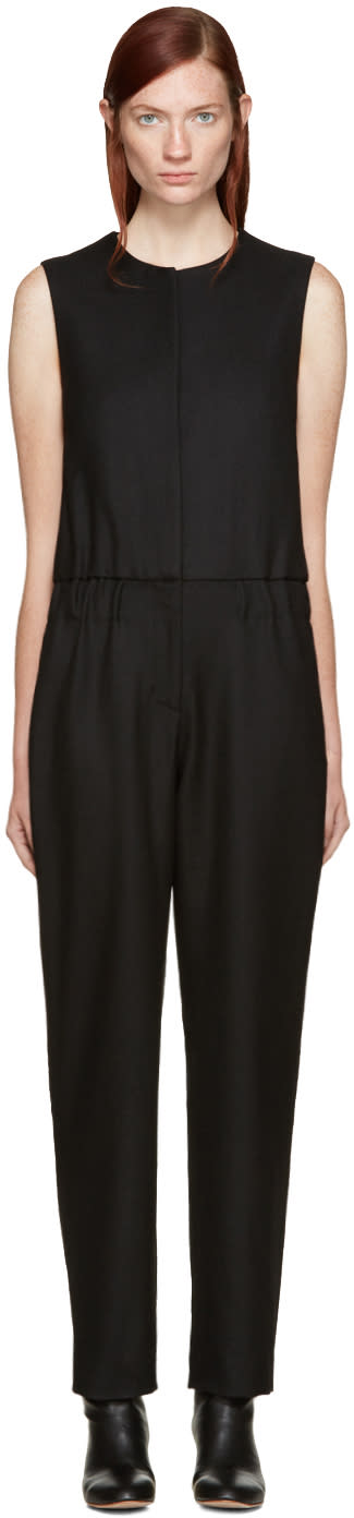 Acne Studios Black Wool Selsey Jumpsuit