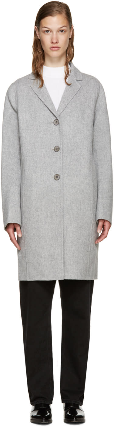 Acne Studios Grey Wool Elsa Coat