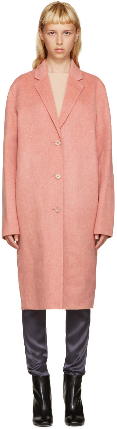 Acne Studios Pink Avalon Double Coat