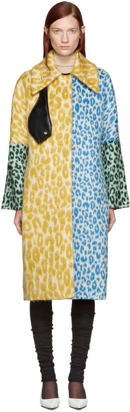 Acne Studios Multicolor Oversized Berilyn Leo Coat