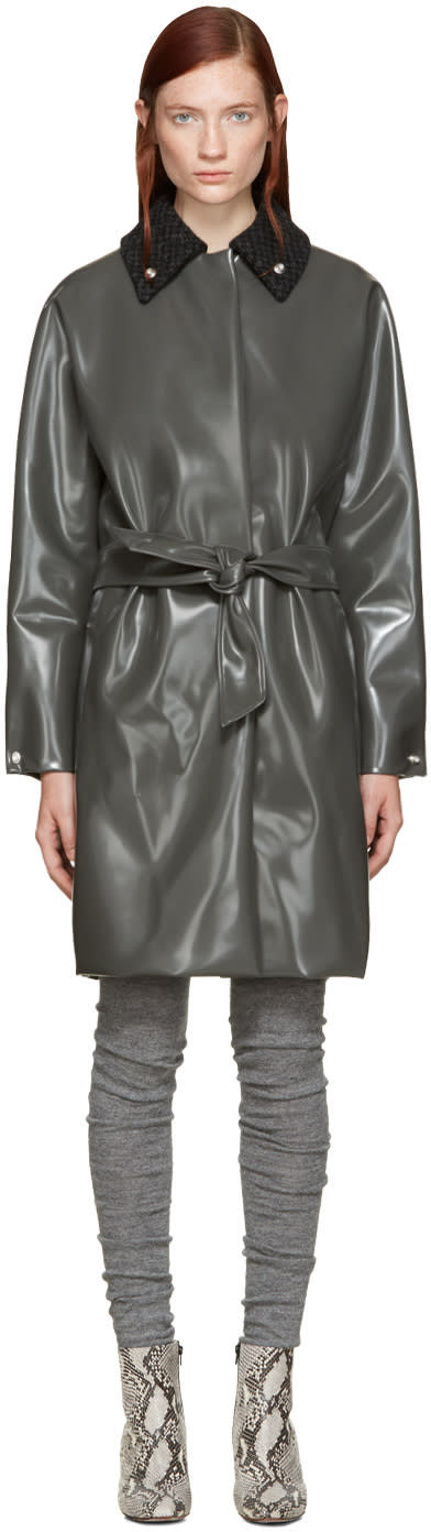Acne Studios Grey Blanky Varnish Coat