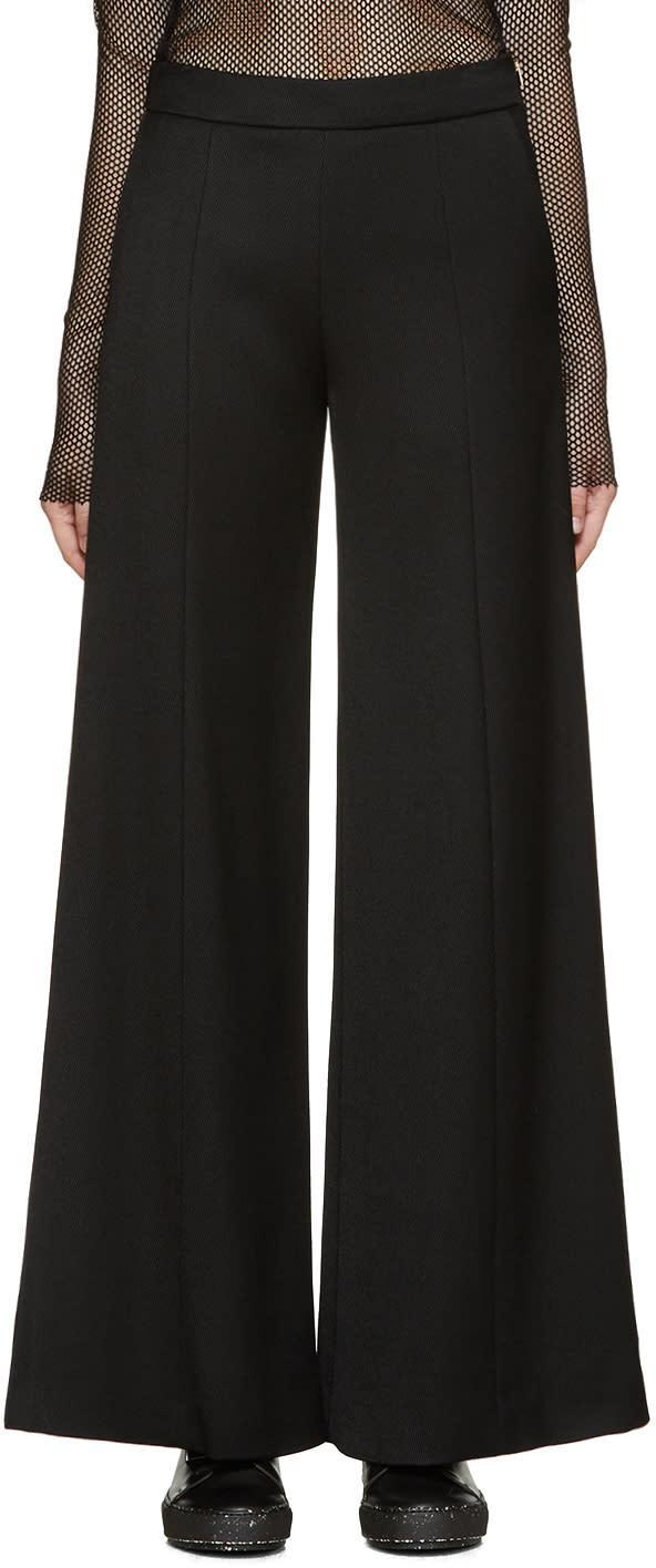 Acne Studios Black Gabardine Melora Trousers