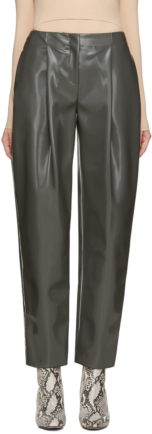 Acne Studios Grey Selah Varnish Trousers