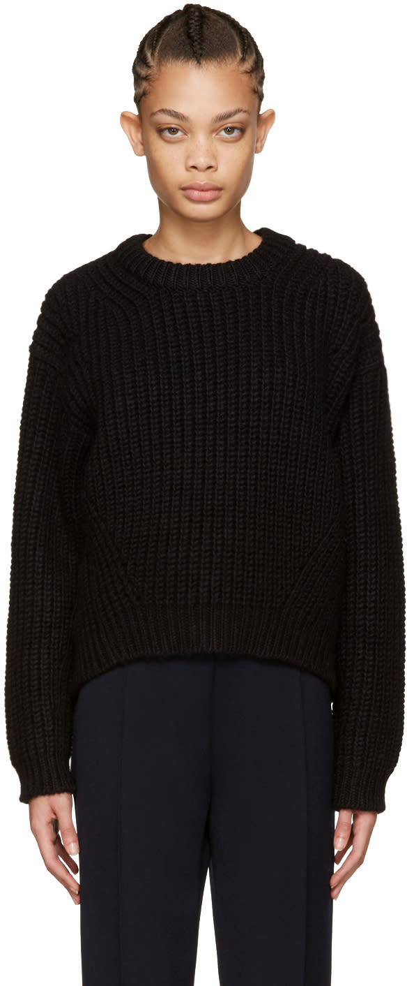 Acne Studios Black Wool Hira Sweater