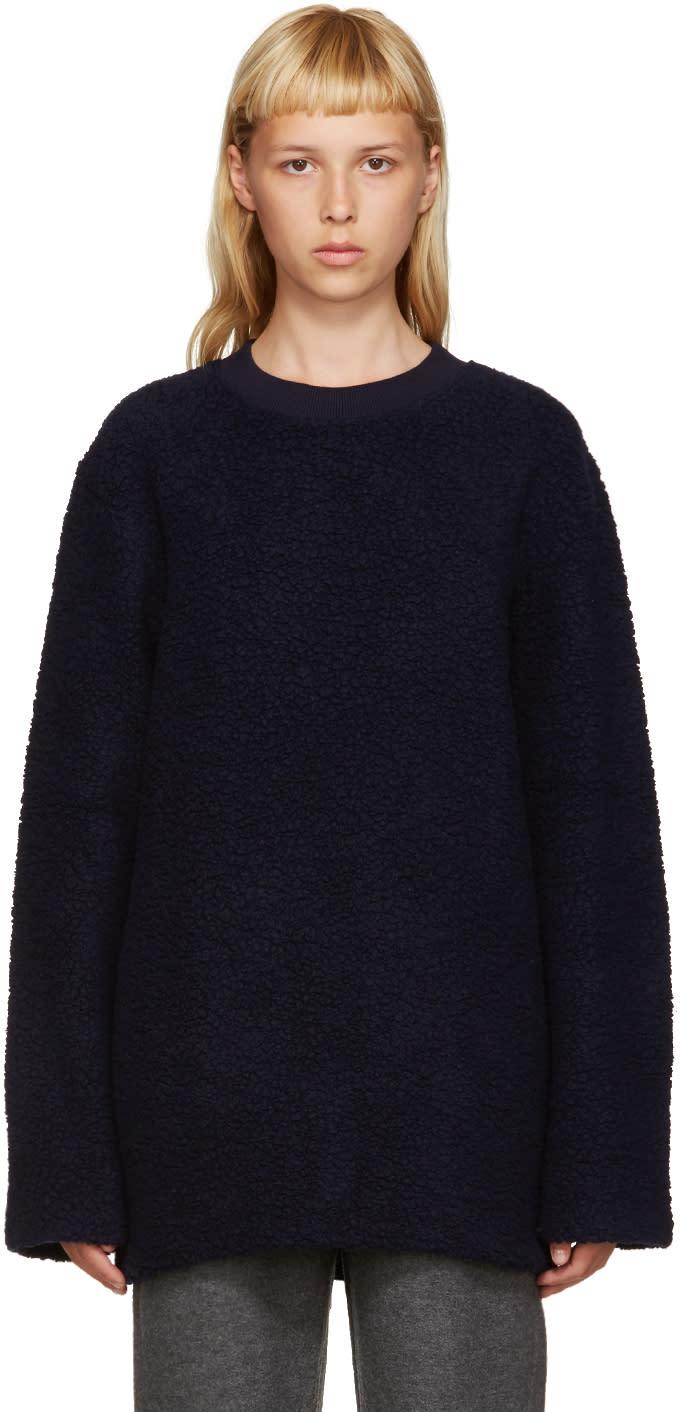 Acne Studios Navy Wool Carola Pullover
