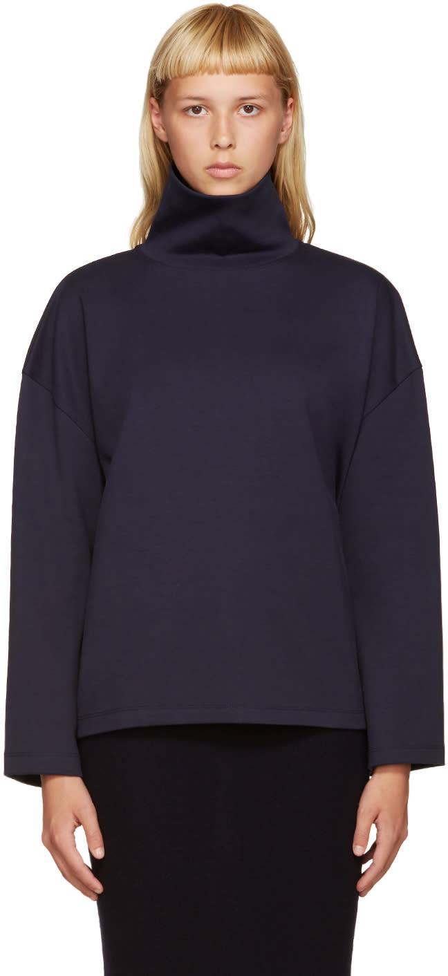 Acne Studios Navy Lorma Turtleneck
