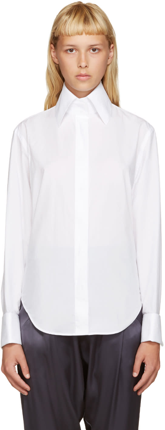 Acne Studios White Poplin Slade Shirt