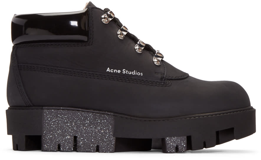 Acne Studios Black Tinne Low Boots