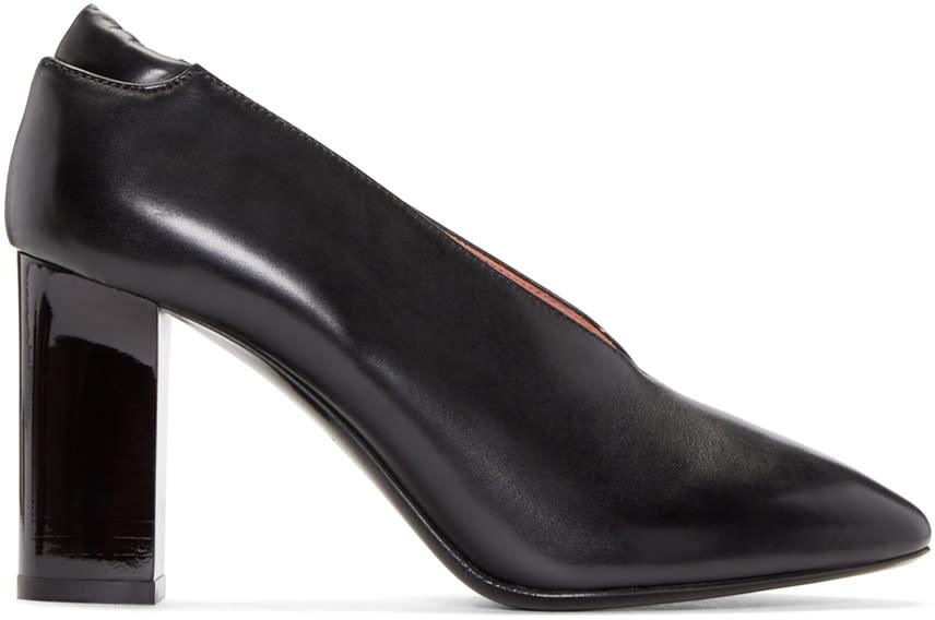 Acne Studios Black Aja V-neck Heels