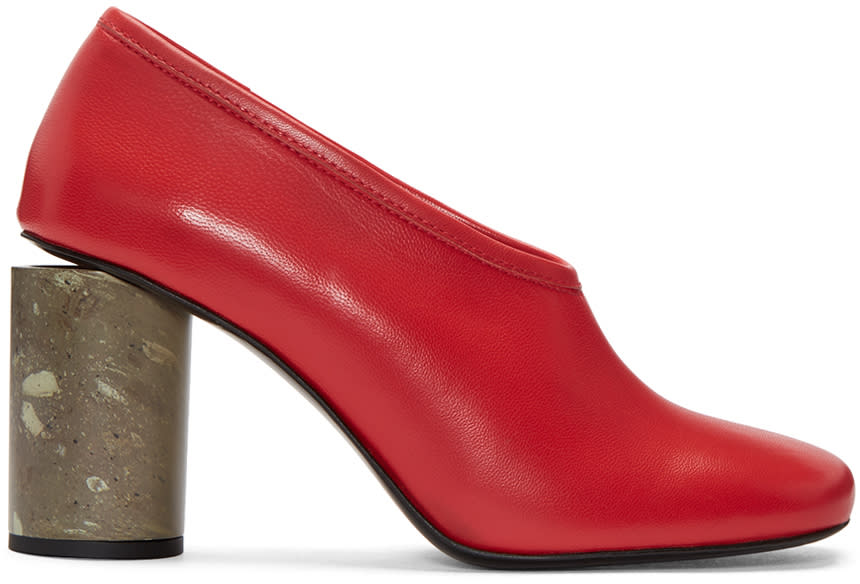 Acne Studios Red Amy Heels