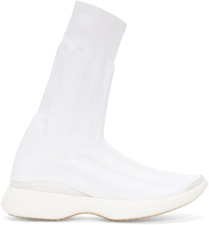 Acne Studios White Batilda High-top Sneakers