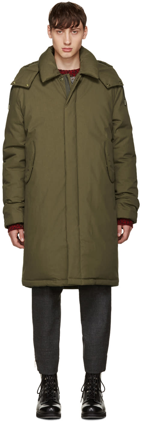 Acne Studios Green Oversized Halifax Parka