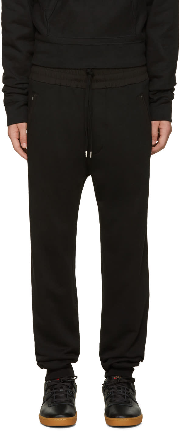 Acne Studios Black Johna Lounge Pants
