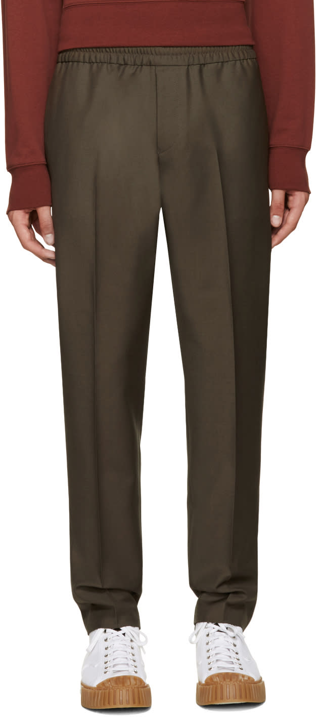 Acne Studios Green Ryder Trousers