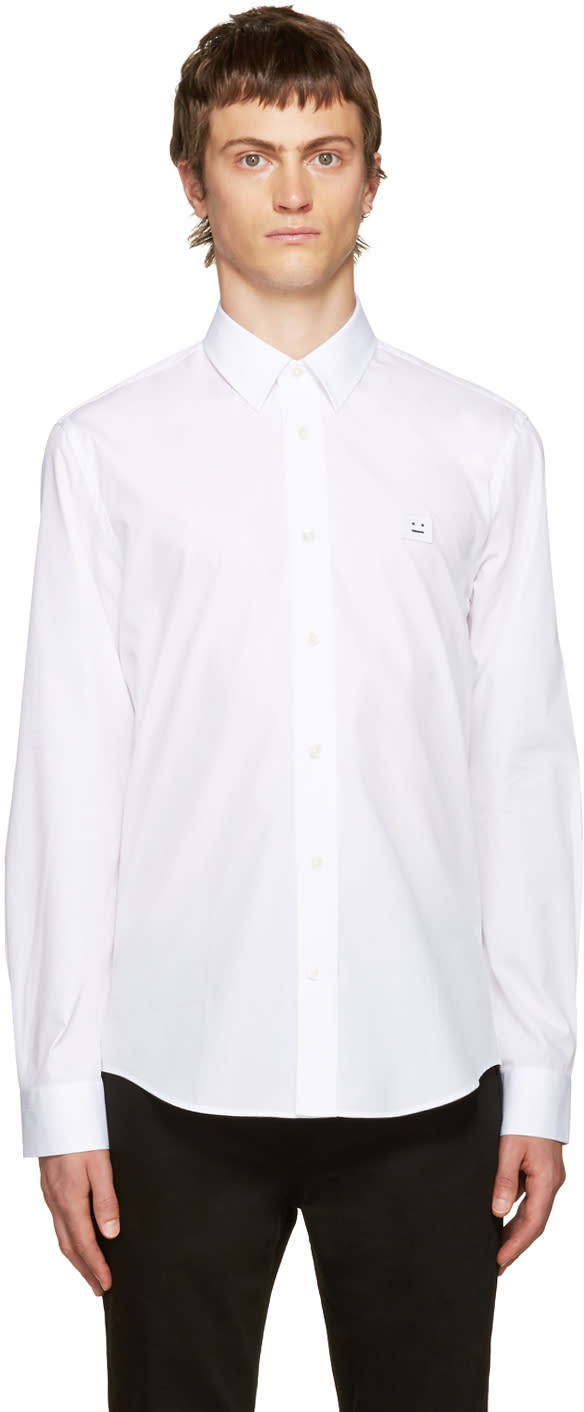 Acne Studios White Jeffrey Pop Face Shirt
