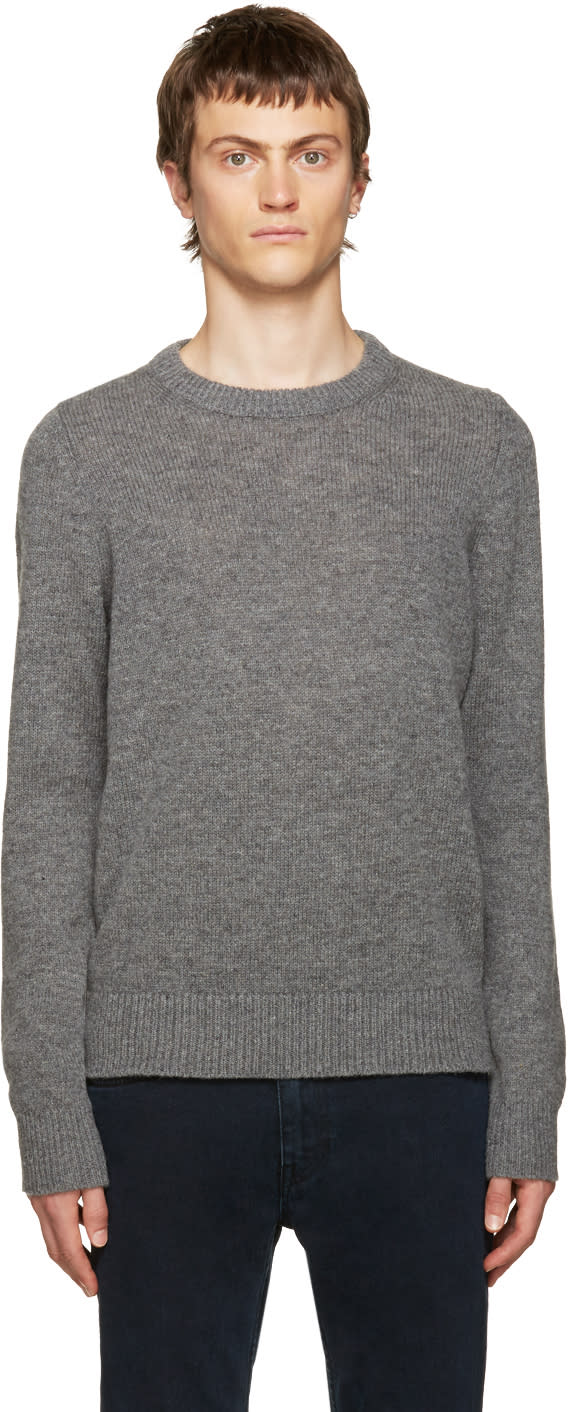 Acne Studios Grey Kai Reverse Sweater