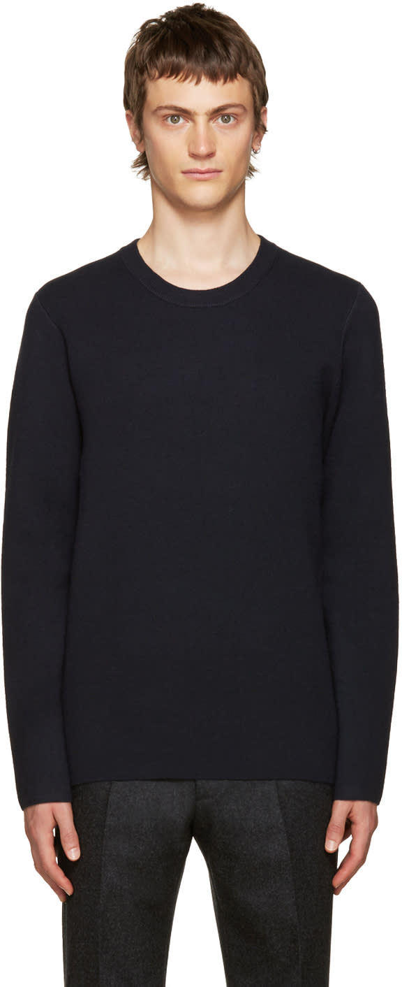 Acne Studios Navy Wool Lang Sweater