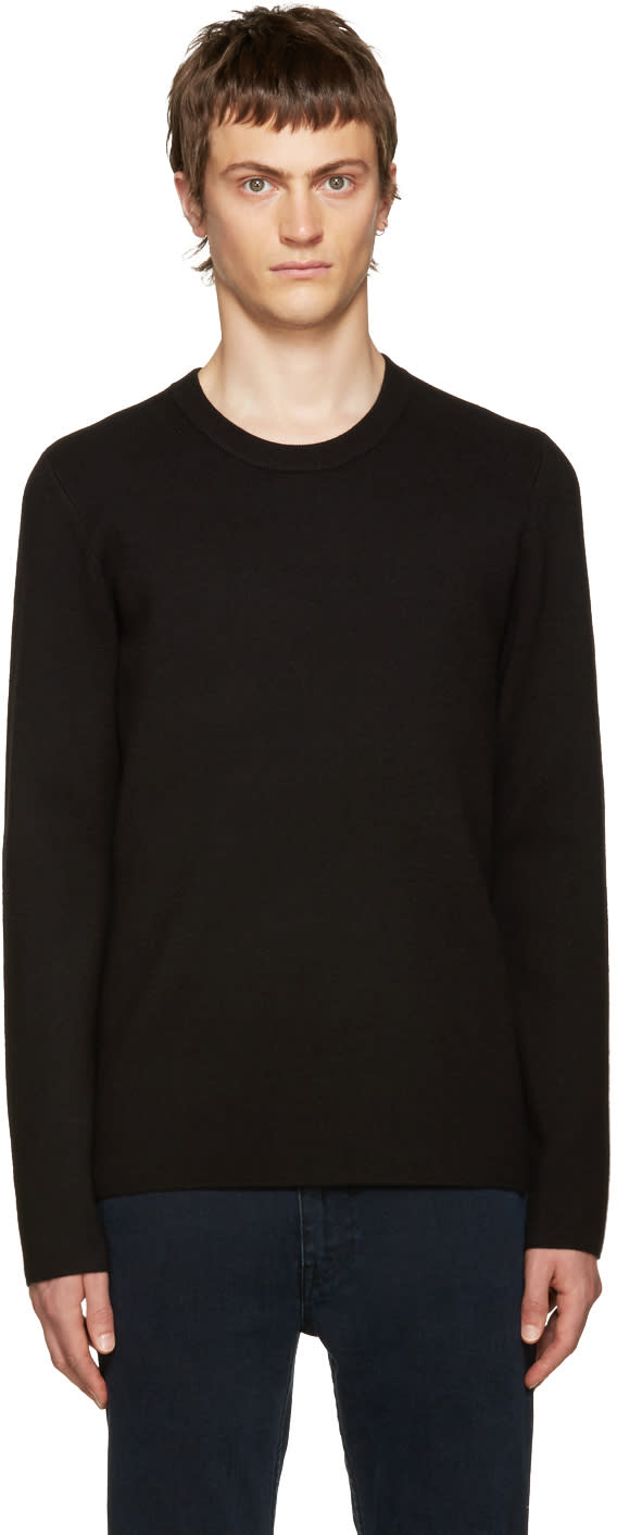 Acne Studios Black Wool Lang Sweater