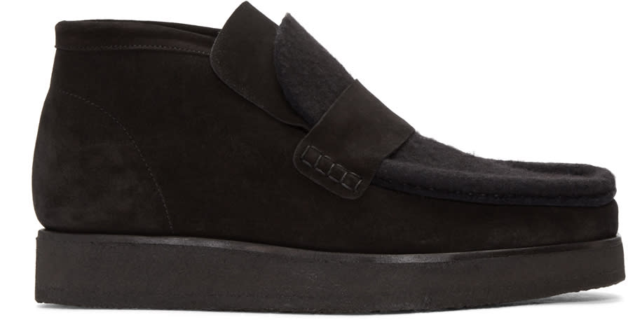 Acne Studios Black Suede Ronny Boots