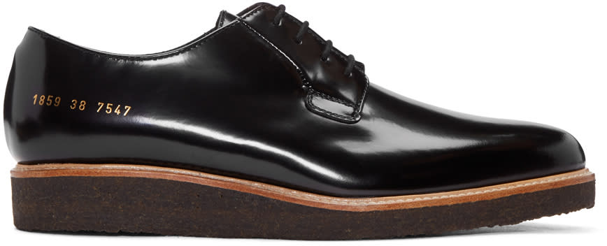 Image of Common Projects Black Shine Derbys