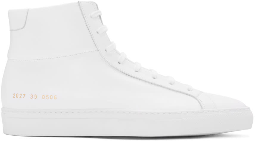 Common Projects White Original Achilles High-top Sneakers