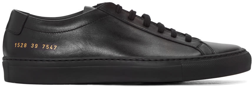 Image of Common Projects Black Original Achilles Sneakers