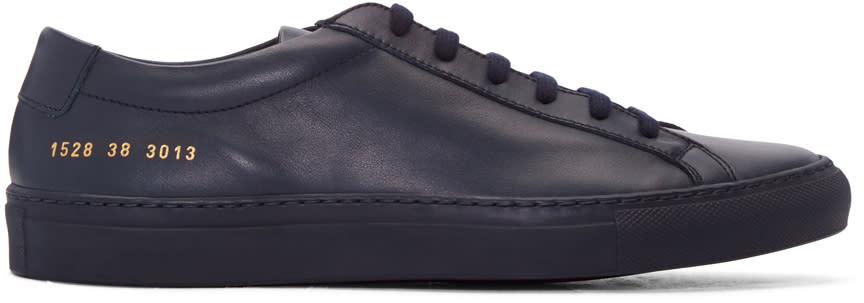 Image of Common Projects Navy Original Achilles Sneakers