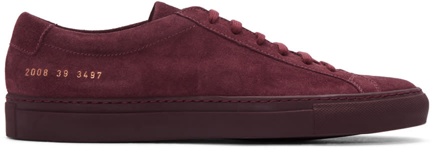 Common Projects Burgundy Original Achilles Sneakers