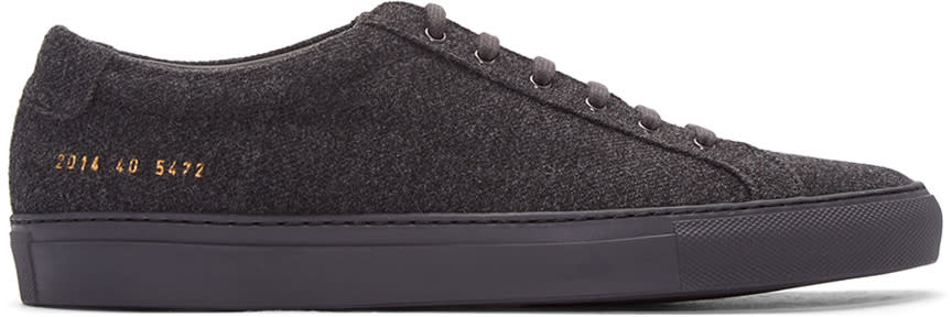 Common Projects Grey Wool Achilles Sneakers