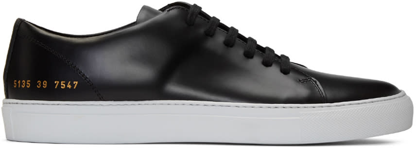 Image of Common Projects Black New Court Low Sneakers