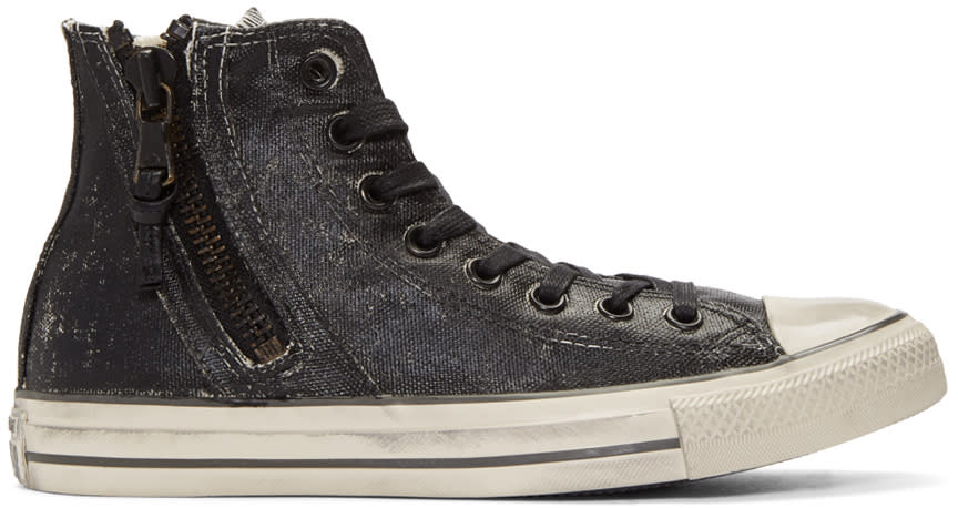 Converse By John Varvatos Black Chuck Taylor All Star Zip High-top Sneakers