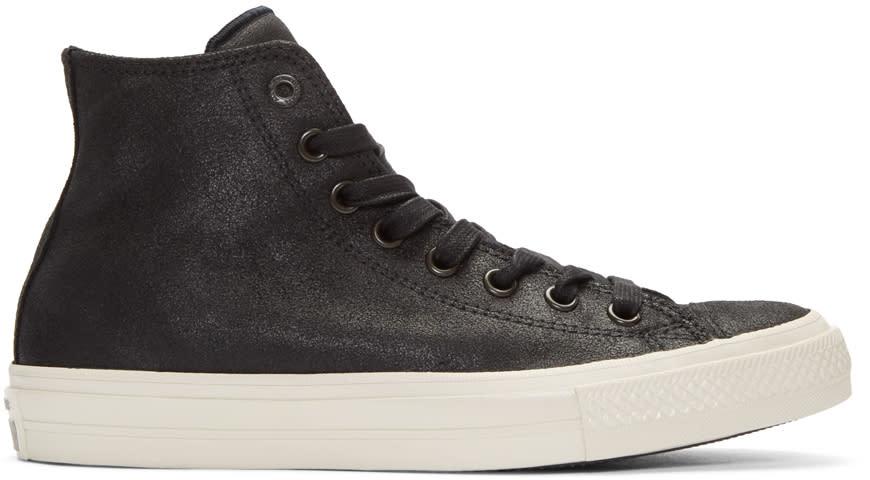 Converse By John Varvatos Black Leather Ctas Ii High-top Sneakers