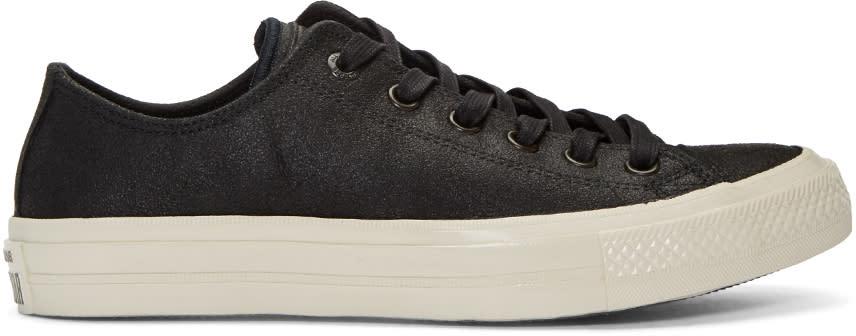 Converse By John Varvatos Black Leather Ctas Ii Ox Sneakers
