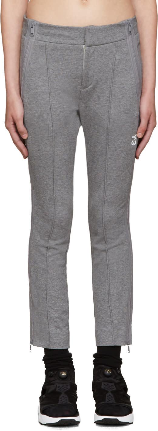 Y-3 Grey Cropped Lounge Pants
