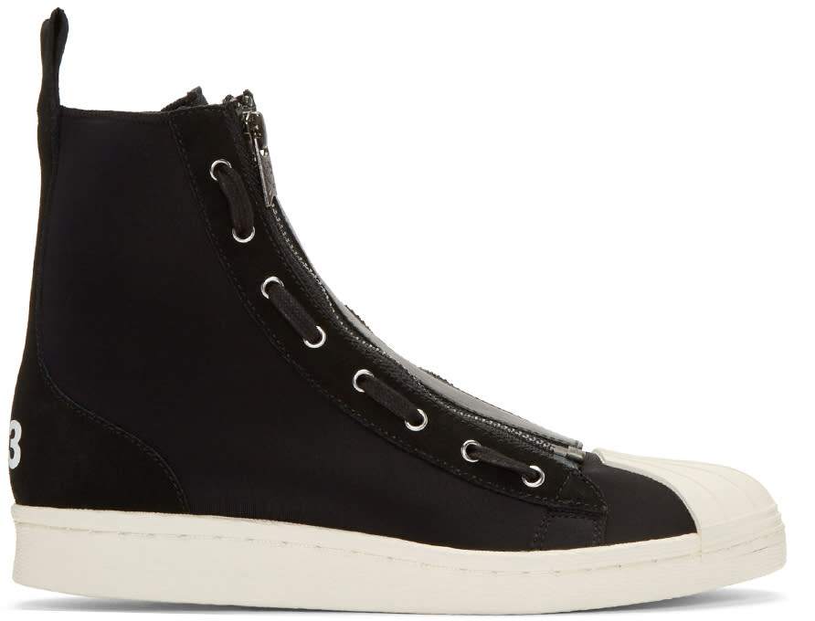 Y-3 Black Pro Zip High-top Sneakers
