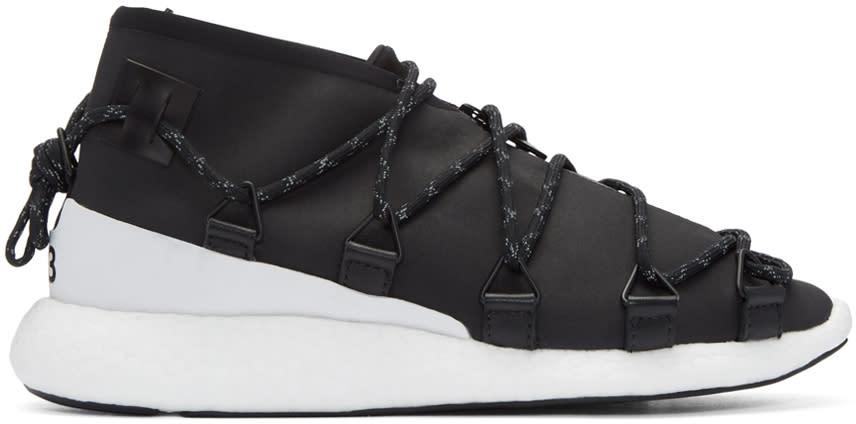 Y-3 Black Cross Lace Run Sneakers