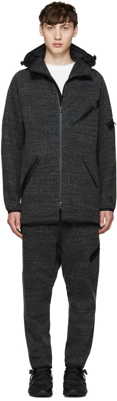 Y-3 Grey Knit Future Sp Parka