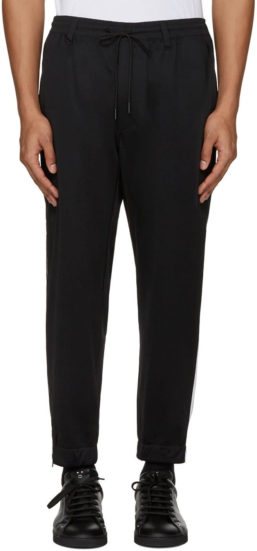 Y-3 Black Cropped Lounge Pants