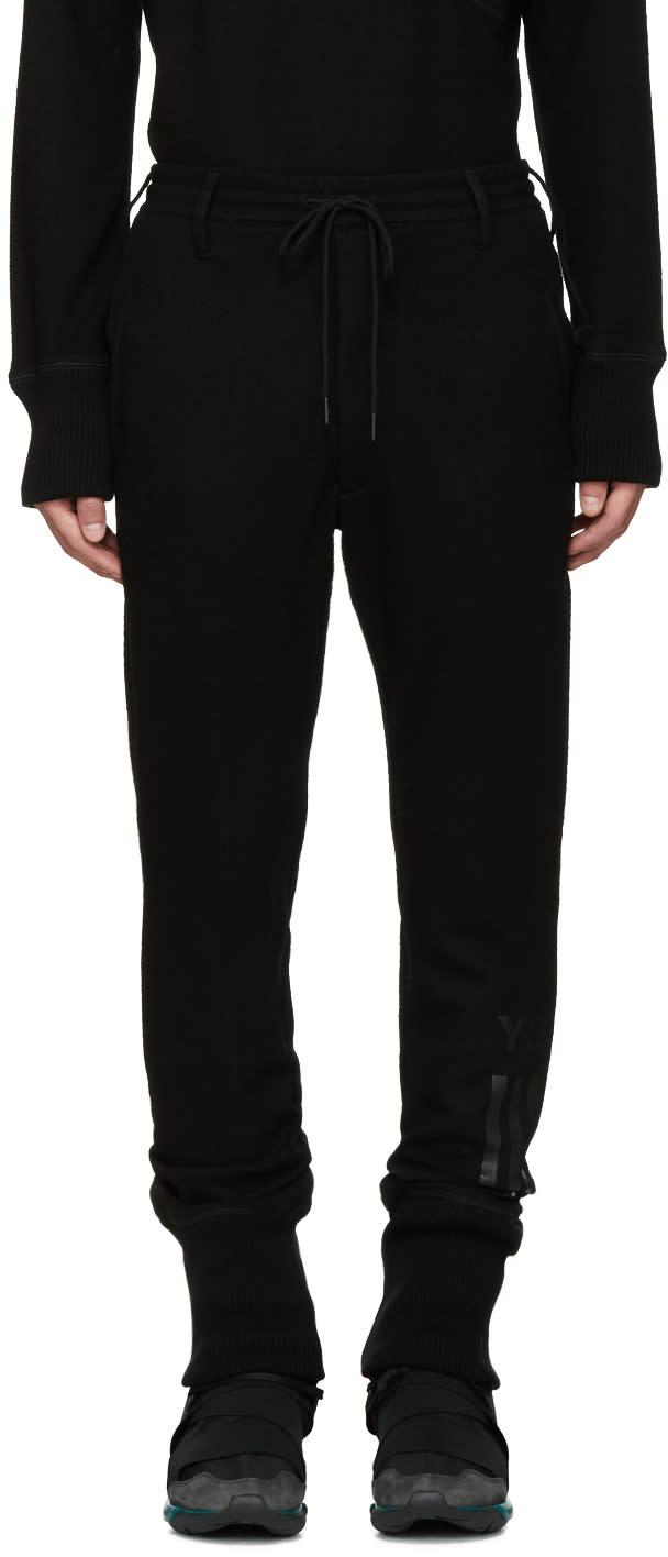 Y-3 Black Wool Lounge Pants