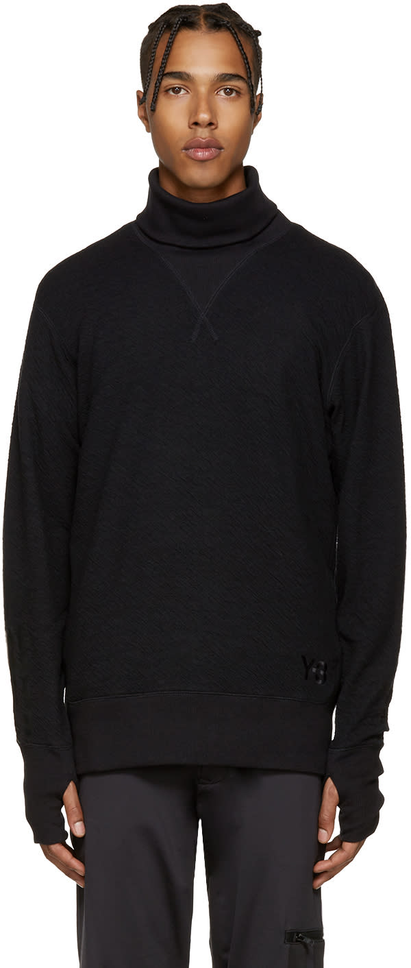 Y-3 Black Double Jersey Sweater